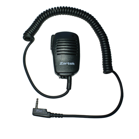 Lapel handheld microphone speaker. (SINGLE PIN)  ONLY PTT (no VOX)