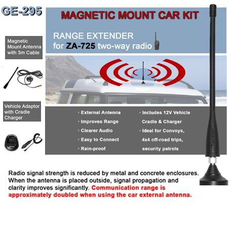 Magnetic mount Car Kit<br />Includes Magnetic base with 3m cable, Antenna, Vehicle charger & Cradle